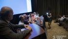 Mesa de consulta con los relatores de la jornada